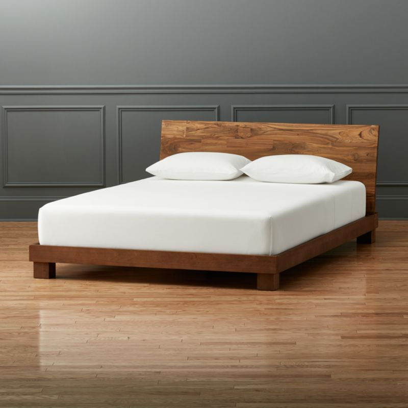 Best Dondra Teak Queen Bed Bed Furniture Modern Bedroom 400 x 300
