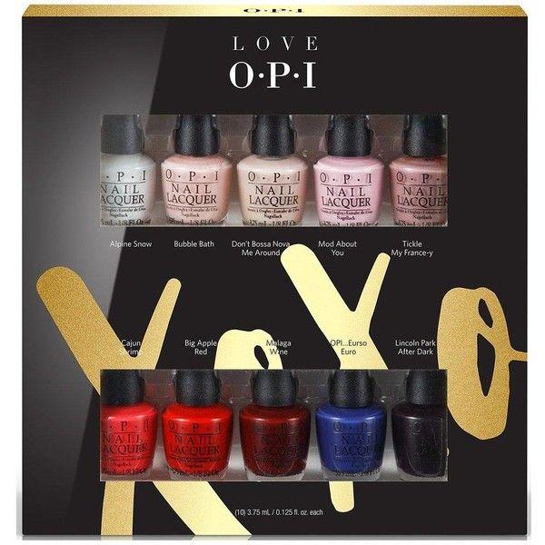 Opi Opi Christmas Xoxo 10Pc Mini Nail Varnish Gift Set ($39 ...