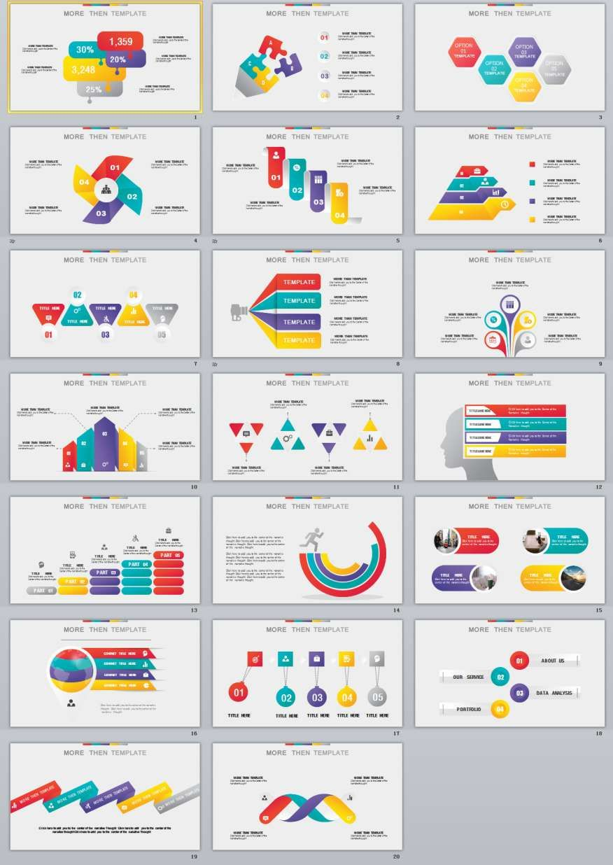 20+ best infographic powerpoint templates | the highest quality, Presentation templates