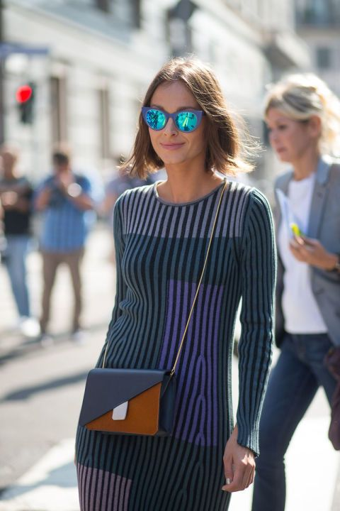 Street style during Milan Fashion Week Spring/Summer 2016, Week 3, September 2015. Photo: Diego Zuko.