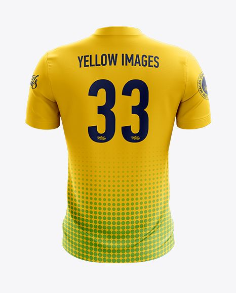 Download Soccer Jersey Mockup Back View In Apparel Mockups On Yellow Images Object Mockups Shirt Mockup Clothing Mockup Tshirt Mockup