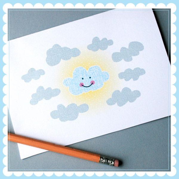 Free printable greeting card and envelope template grey clouds are free printable greeting card and envelope template grey clouds are going to cheer up brighten someones day m4hsunfo