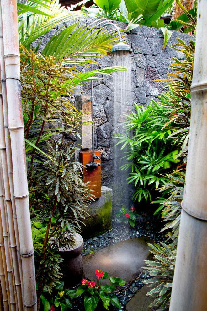 25 Tropical Exterior Design Ideas Garden Shower Outdoor