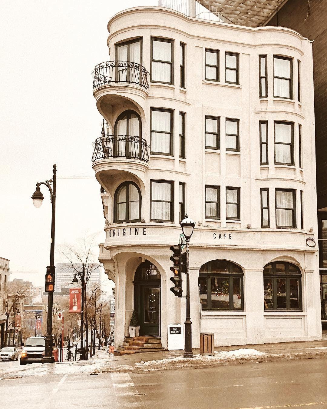 Cafe Origine Street Corner In 2020 Cafe Exterior City Design Coffee Shop Aesthetic