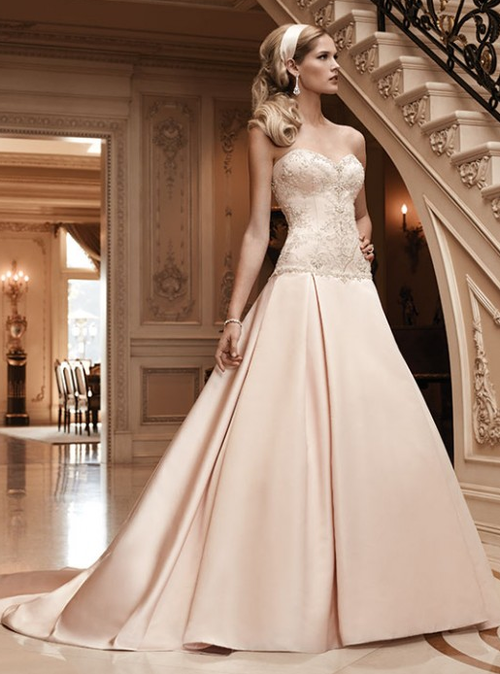 silky wedding gowns