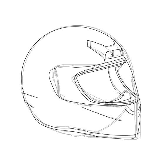 How To Draw A Motorcycle Helmet 6 Steps With Pictures Helmet