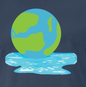 Earth Melts Global Warming Men S Premium T Shirt Navy In 2020 Nerd Zocken