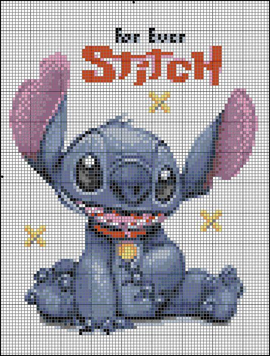 Stitch Cross Stitch Pattern Lilo Stitch Pinterest Stitch