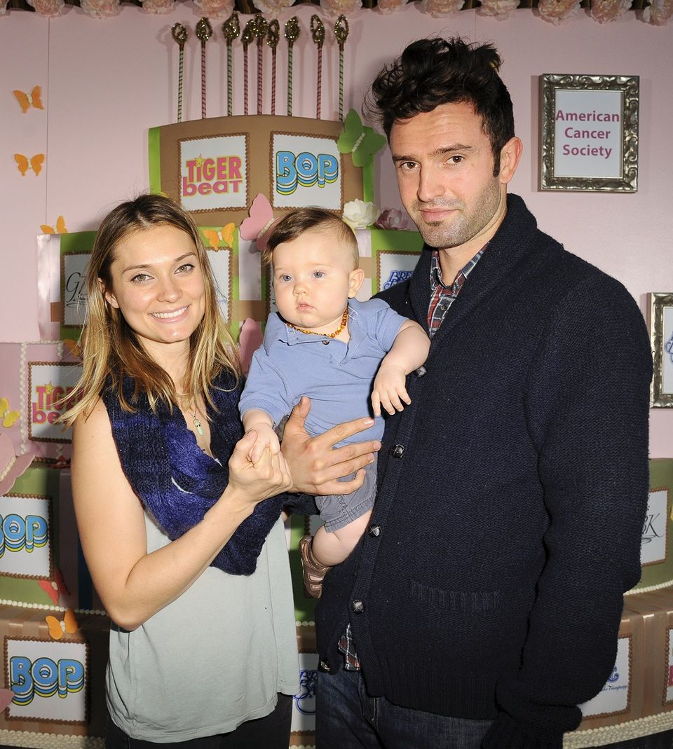 Spencer Grammer with husband James Hesketh and son Emmett
