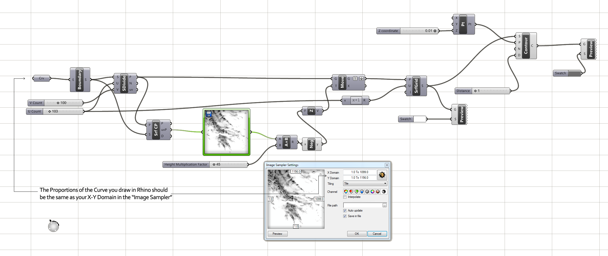 Surfaces From Image Sampler Example 46 Grasshopper Wiring Diagram Explore Rhino Grasshoppers And More