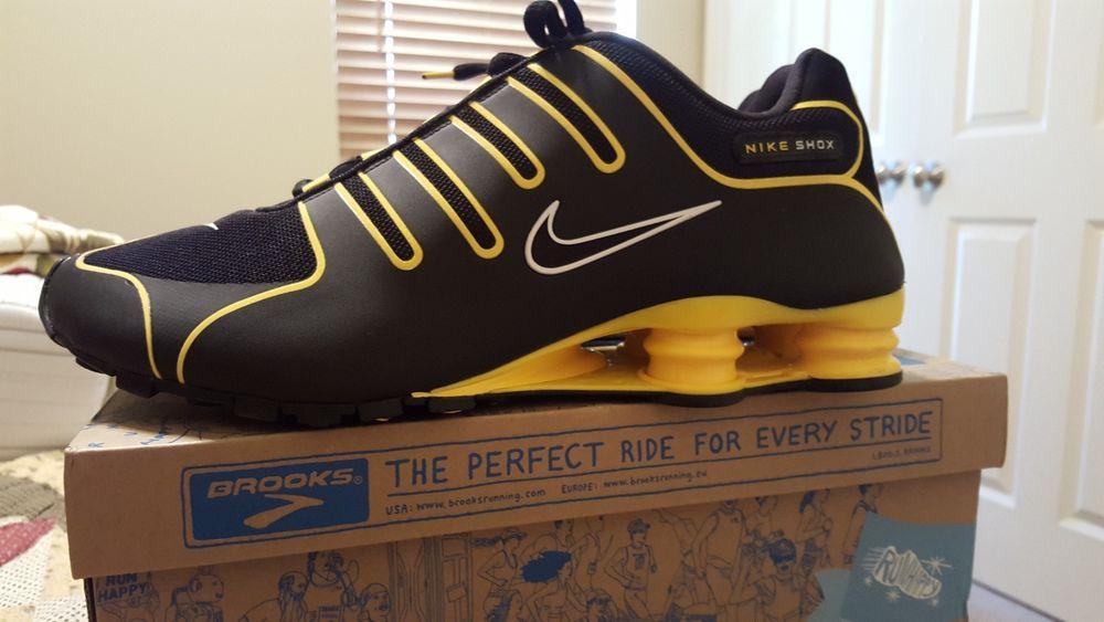 d6096df11f8d NIKE SHOX NZ LIVESTRONG BLACK   Gold SZ 13  Nike  RunningCrossTraining