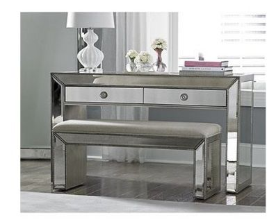 Omni Vanity Console Table Mirrored Bedroom Furniture Mirrored Furniture Home Decor