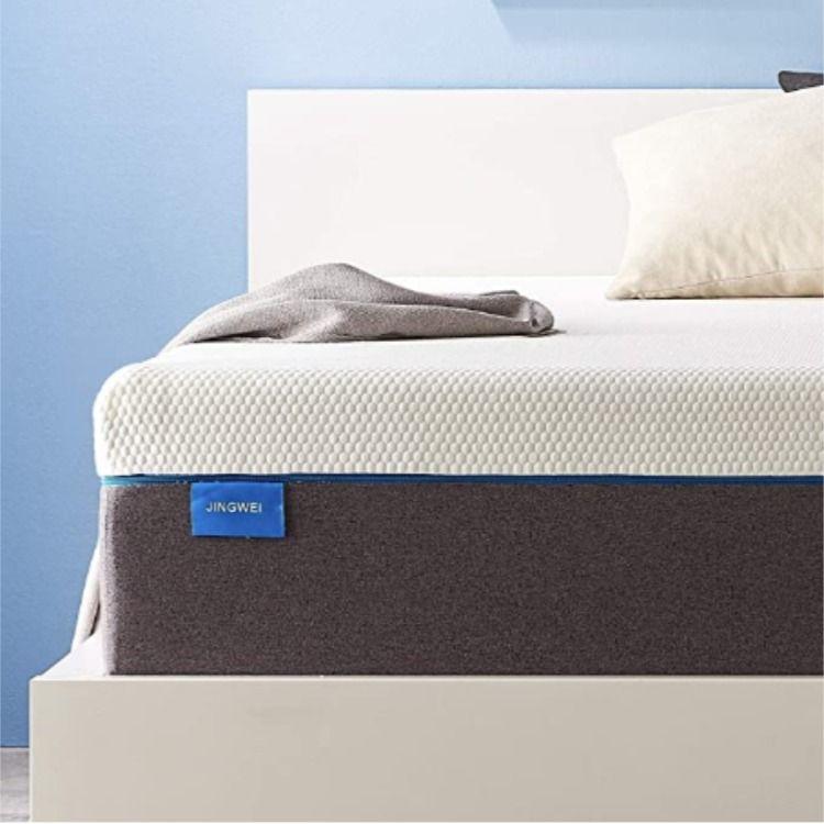 Queen Size Mattress Jingwei 7 Inches Cooling Gel Memory Foam Mattress Bed In A Box In 2020 Bed Mattress Memory Foam Queen Mattress Size Twin Mattress Size