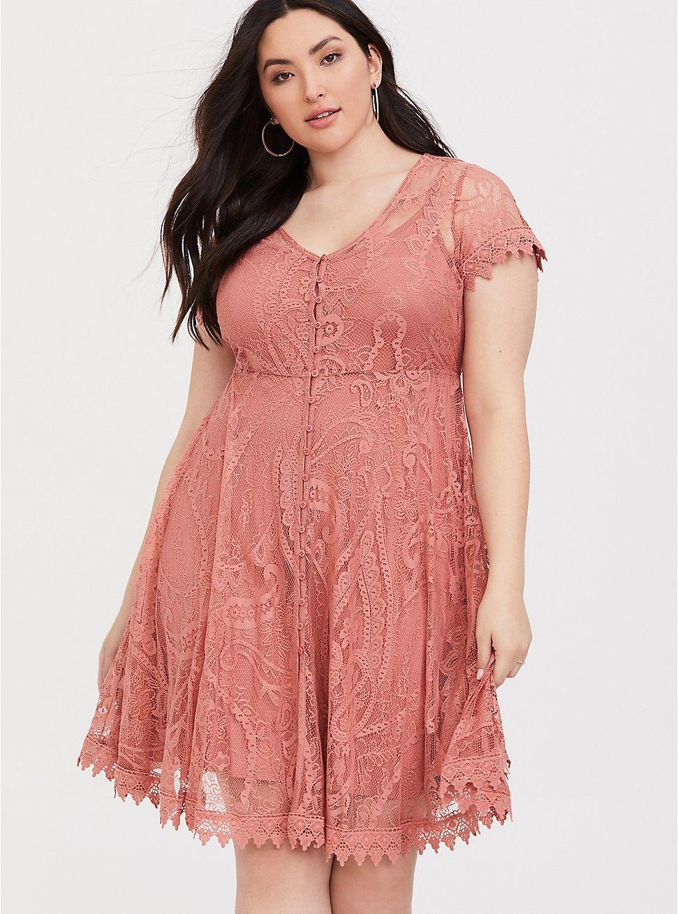 Blush Pink Lace Button Shirt Dress Button Shirt Dress Blush Lace Dress Plus Size Cocktail Dresses