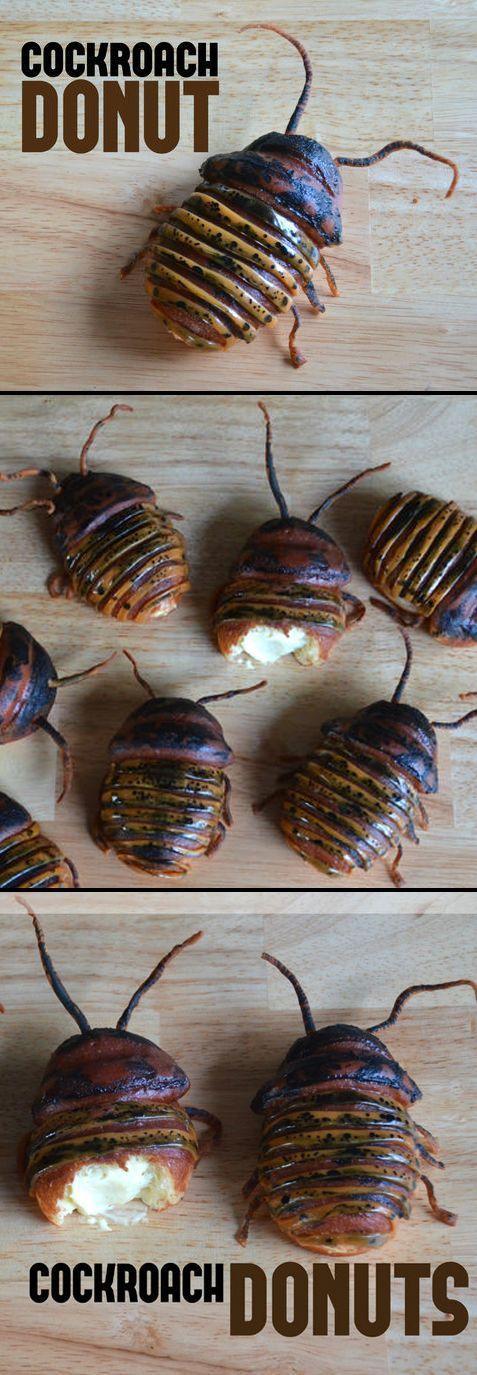 Cockroach Donuts (Boston Cream)