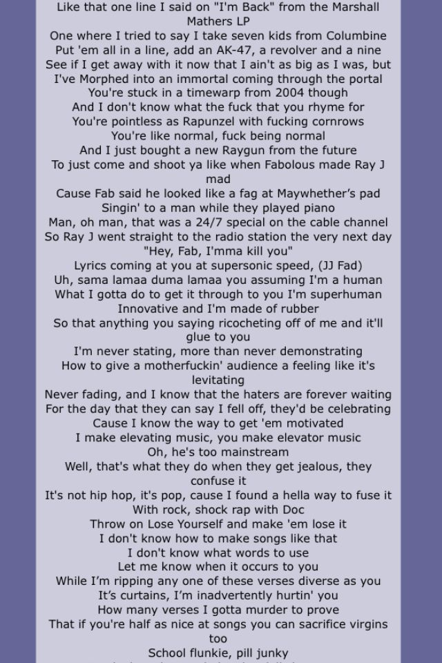 Eminem. Rap God.