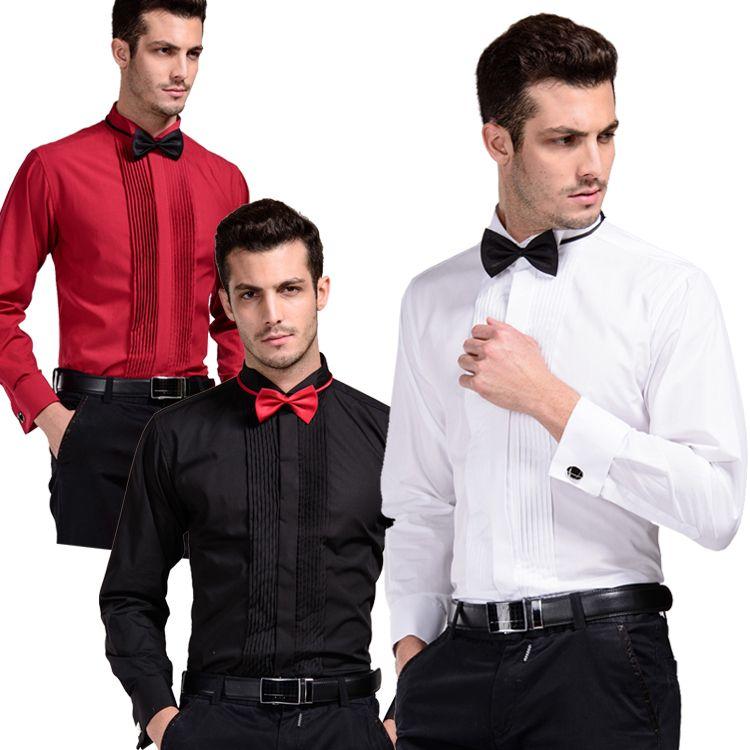 Drop Ship,High Quality Formal Men Dress Shirts White Tuxedo Shirts ...