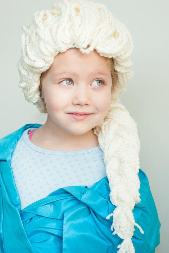 Crochet pattern Elsa hair - wig to dress up - Frozen inspired Elsa ...
