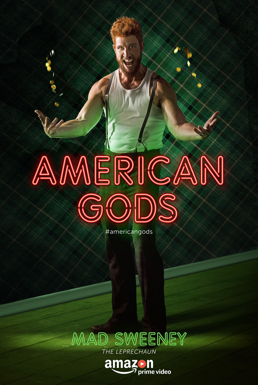 American Gods S1 Pablo Schreiber As Mad Sweeney American Gods Mad Sweeney The Graveyard Book