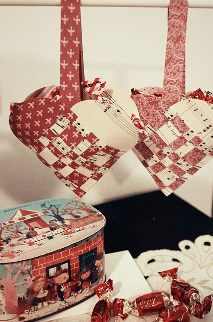 Paperhearts full of candy.