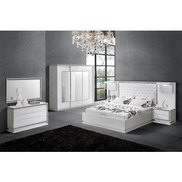 chambre ensemble chambre à coucher design avec lit 160x200 cm