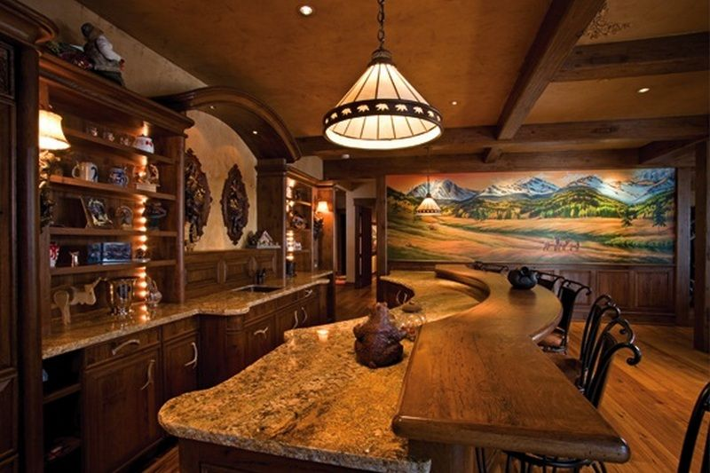 Amazing Log Home   Bar On The Owner Builder Network  Http://theownerbuildernetwork