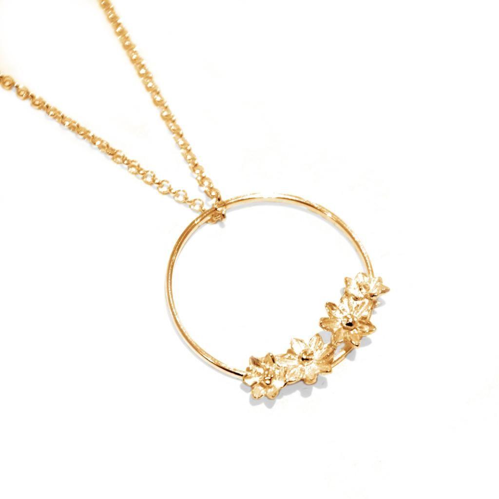 Cabbage White - Cabbage White Flower Hoop Necklace - Silverado ...