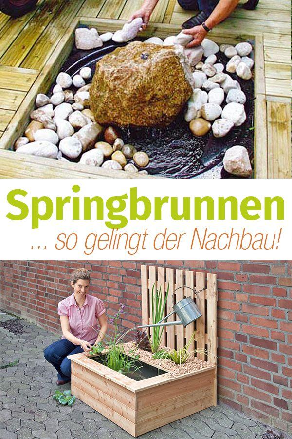 Springbrunnen selber bauen | Gartendeko selbstgemacht | Pinterest ...