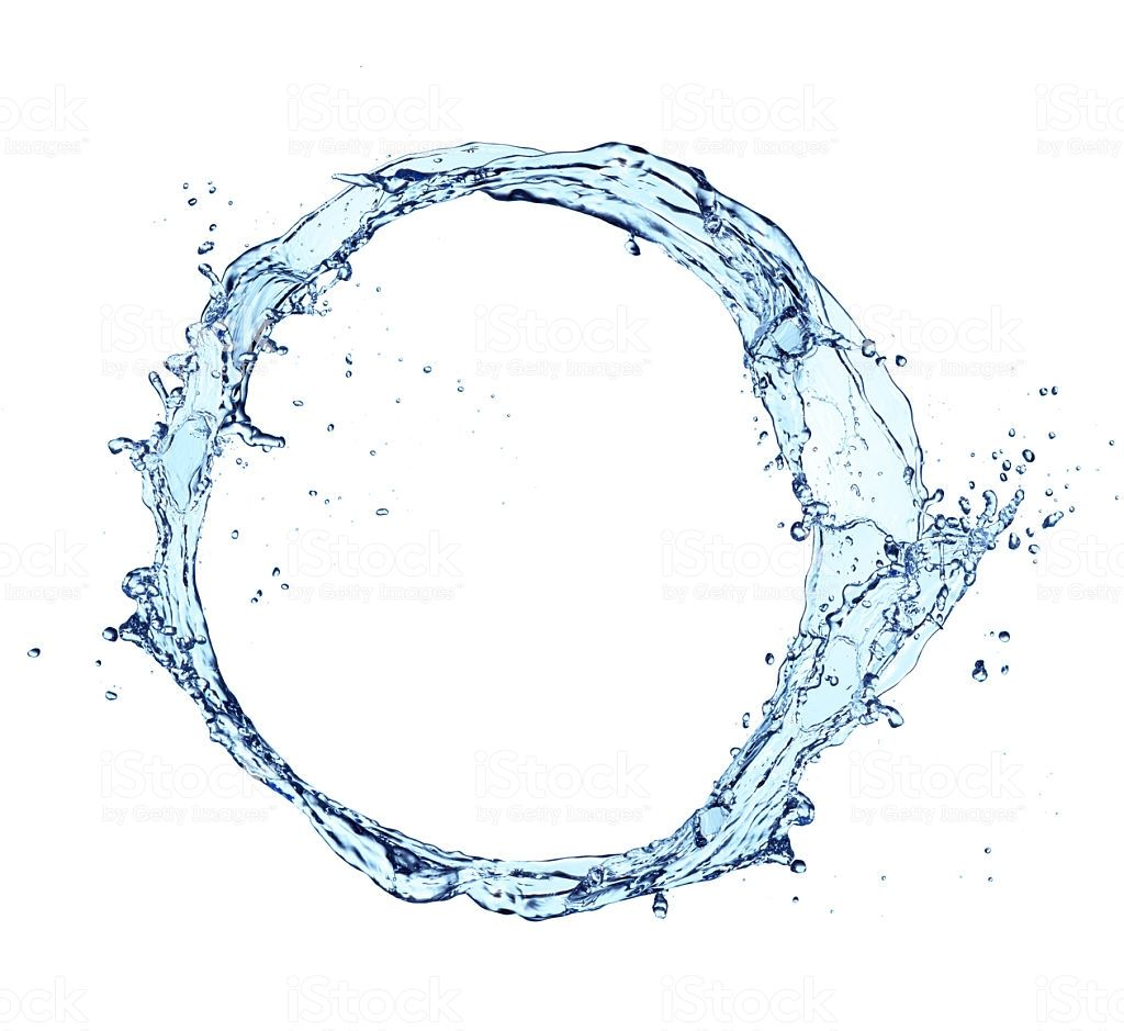 Blue Abstract Water Splash In Circle Shape Isolated On White Water Tattoo Circle Blue Abstract