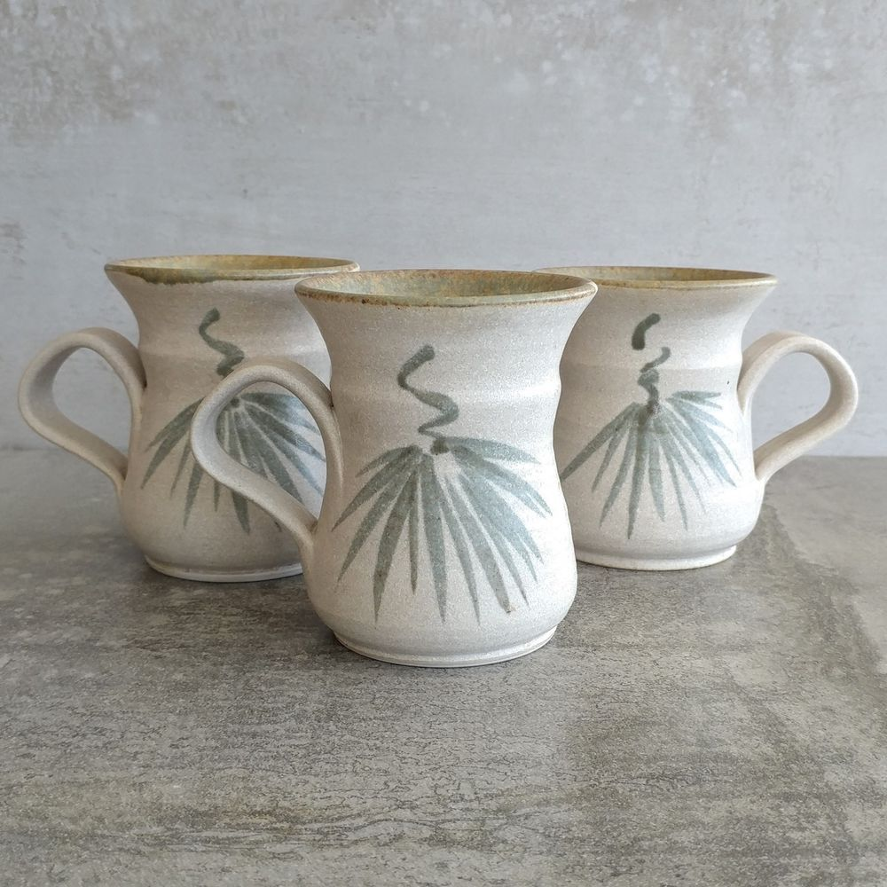 Australian Pottery Coffee Mugs by Rick Oakley, Melbourne