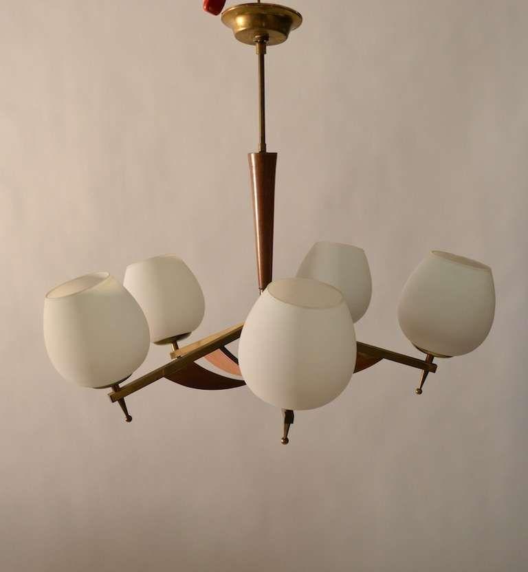 Classic five light mid century modern uplight chandelier mid classic five light mid century modern uplight chandelier mozeypictures Choice Image