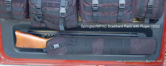 Springtail Mpac Rifle Scabbard Rack For Rear Door Toyota