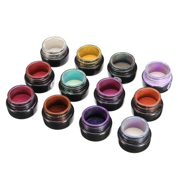 10 Colors to Choose Magic Mirror Chrome Effect Metallic Powder ...