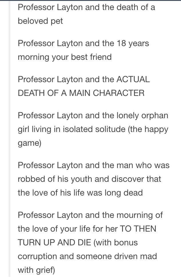 LetS Not Forget  Professor Layton Provides A Deep Emotional