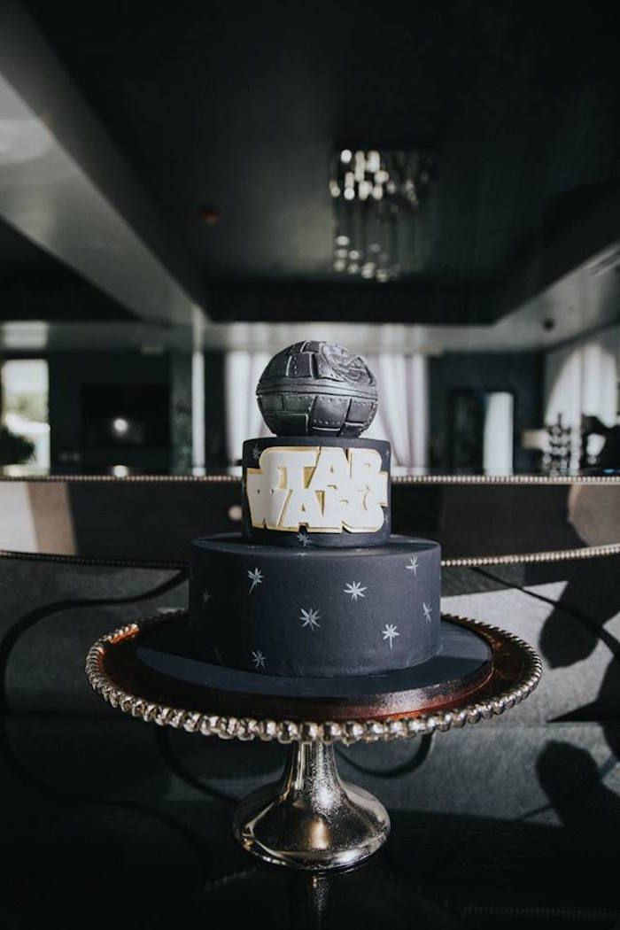 Cake From A Galactic Star Wars Themed Birthday Party Via Karas Ideas