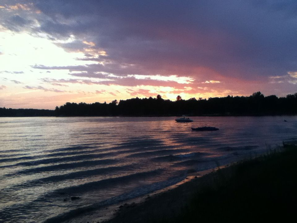 Sunset Over Lake Belle Taine In Nevis Minnesota Favorite Places Lake Sunset