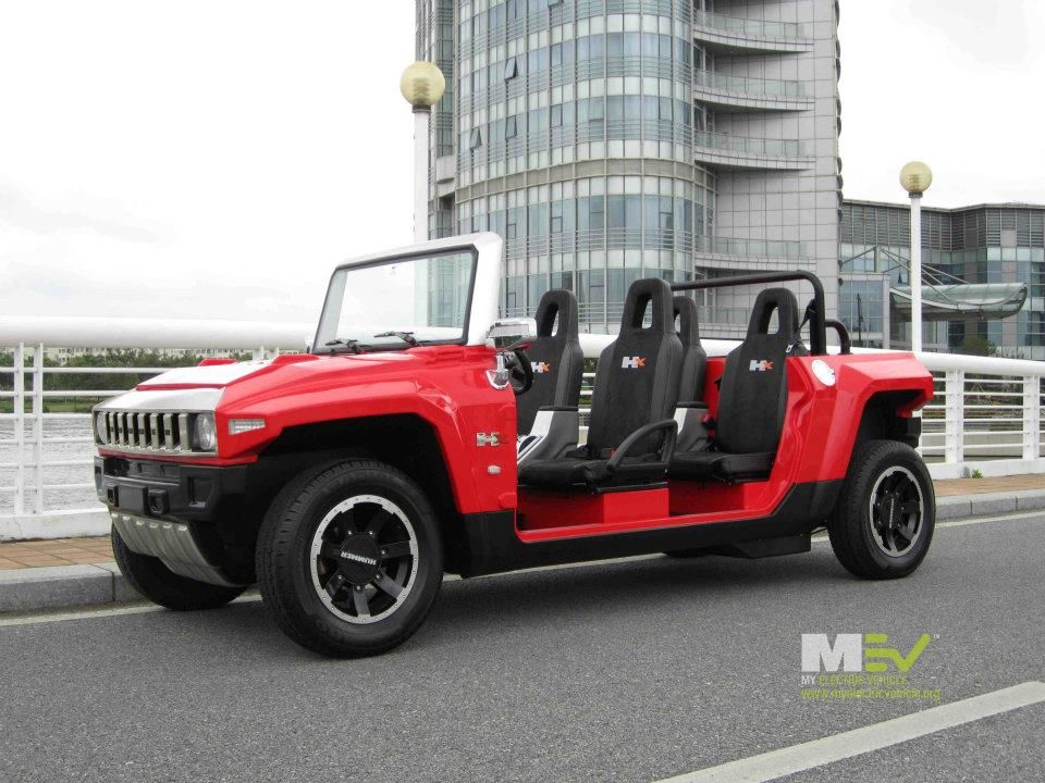 Mev Hummer Hx T Limo In Flat Red Mini Electric Like Nothing Else