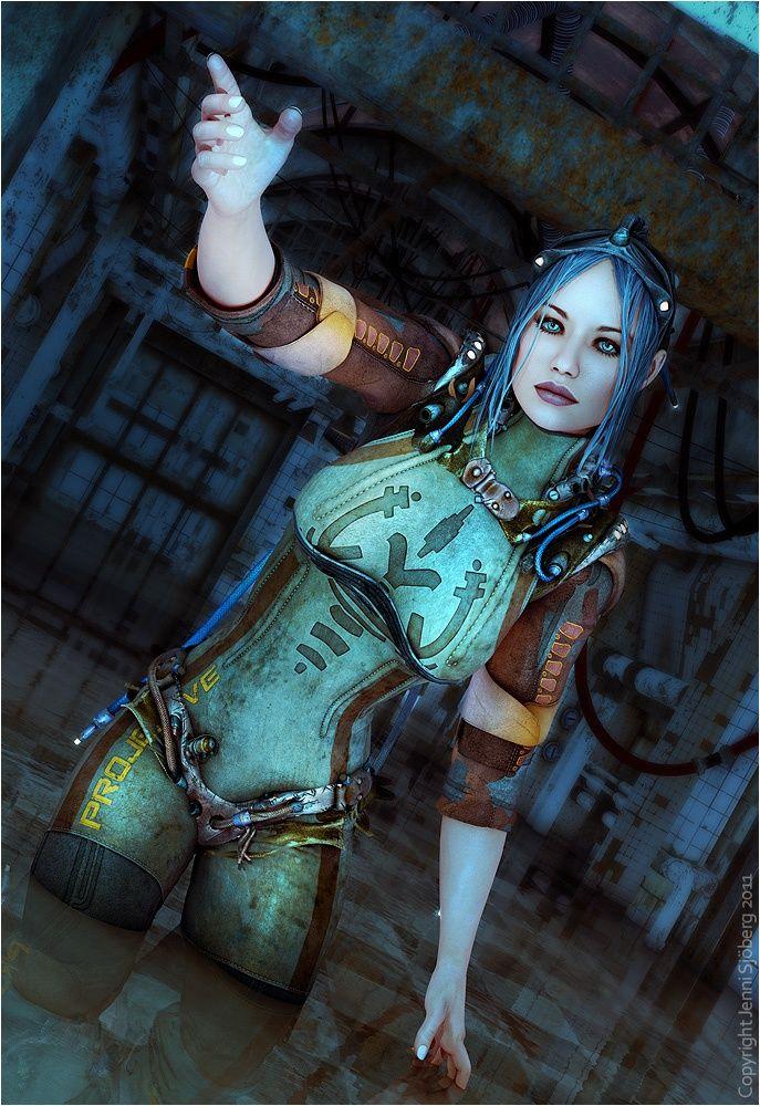 sci fi female renderosity art | Poser art www renderosity com | Sci