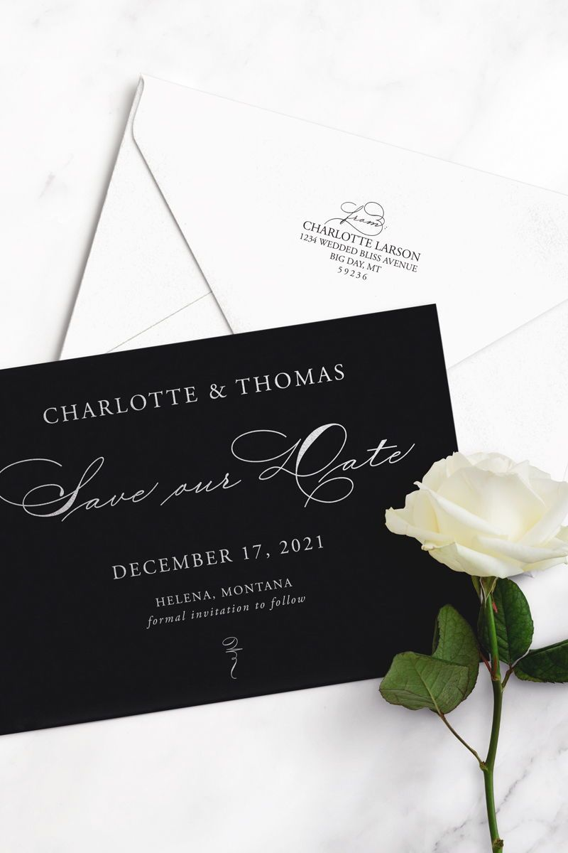SAMPLE Charlotte Save the Date Cards