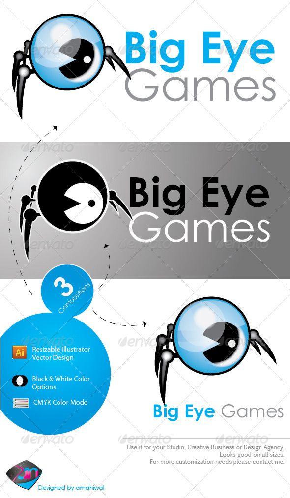 big eye game logo template pinterest logo templates template