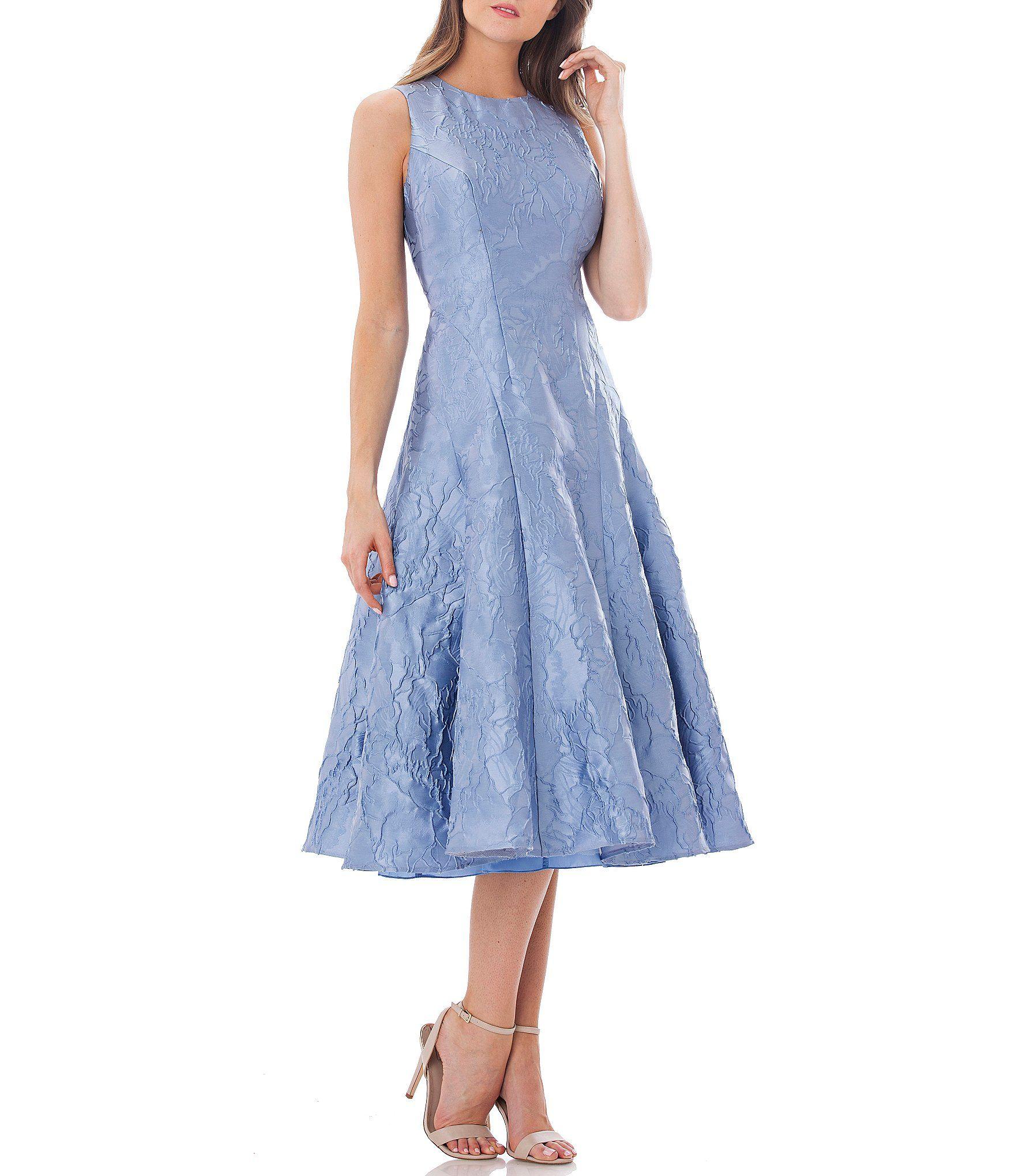 Carmen Marc Valvo Infusion Textural Midi Dress #Dillards | What to ...