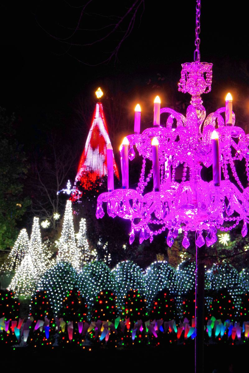 Winter Lights 2017 At The NC Arboretum In Asheville, NC,   With 500,000 Christmas  Lights