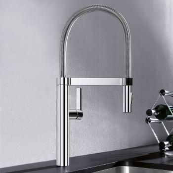 Blanco Culina S Single Lever Mixer Projection 220 Mm Pullout Spray Chrome Kitchen Mixer Chrome Blanco