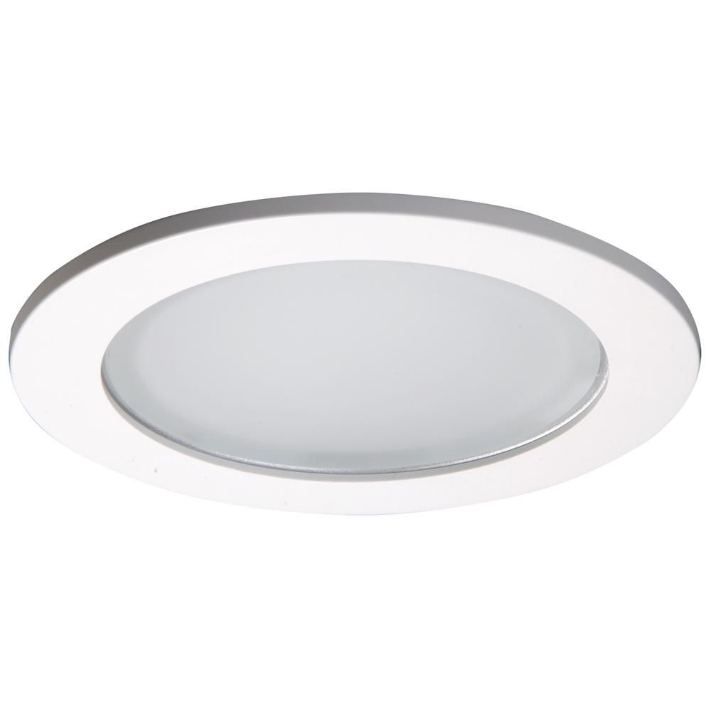 Halo 5 In White Recessed Ceiling Light Shower Trim With Frosted Lens 5051ps The Home Depot Recessed Shower Lighting Recessed Ceiling Lights Recessed Ceiling