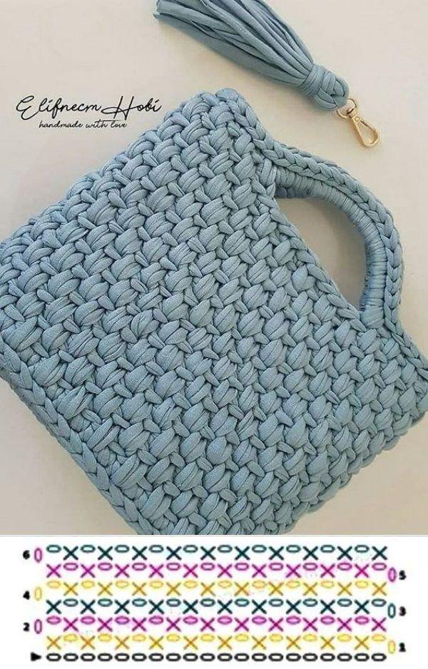 Photo of #crochet bags Faça e venda: Bolsa de fio de malha com gráfico dos pontos …, #bolsa #dos …