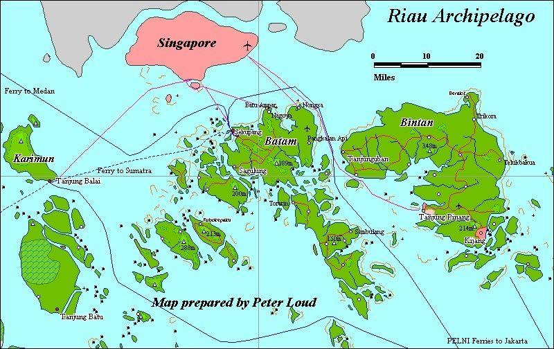 Peta Provinsi Kepulauan Riau Kepulauan