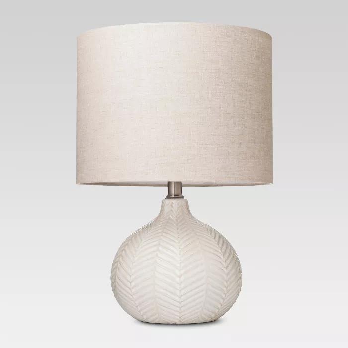 Textured Ceramic Accent Lamp Cream Threshold Lamp Accent Lamp Cream Lamps