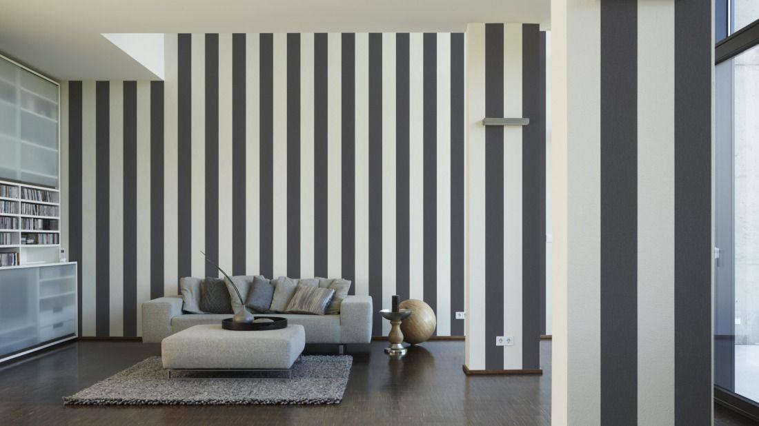 Tapete Grau / Weiß Gestreift; Schöner Wohnen Tapete 226822 | Schlafzimmer |  Pinterest | Tapete Grau Weiß, Tapete Grau Und Schöner Wohnen Tapeten
