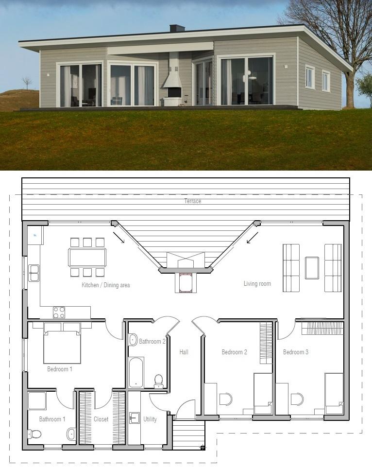 House Plan Ch61 Architectural House Plans House Blueprints Building A House