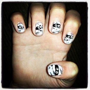 Halloween Mummy nails | Nails, My nails, Halloween mummy